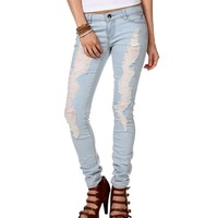Lt. Denim Distressed Jeans