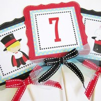 Magic Show Themed Party Centerpieces for Kids Birthday or Baby Shower | adorebynat - Seasonal on ArtFire