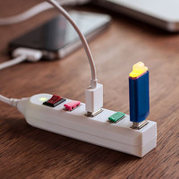 DCI Universal Random Colors USB Power Strip
