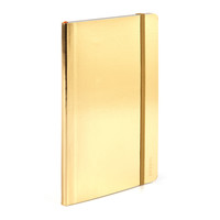 Metallic Gold Medium Soft Cover Notebook