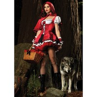 Deluxe Red Riding Hood Adult Costume - Costumes, 800100