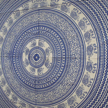 Elephant Mandala Tapestry, Indian Wall Hanging, Indian Tapestry Throw Bedspread, Bohemian Wall Hanging, Ethnic Decorative Art,