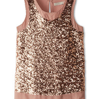 Stella McCartney Kids Popsy Sleeveless Sequin Blouse (Toddler/Little Kids/Big Kids)