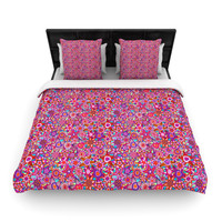 "Julia Grifol ""My Dreams in Color"" Pink Stars Woven Duvet Cover"
