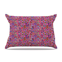 "Julia Grifol ""My Dreams in Color"" Pink Stars Pillow Case"