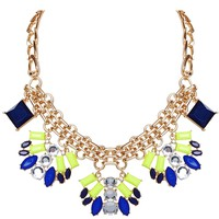 Neon Deco Necklace - Neon Resin Statement Collar - Humblechic.com