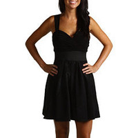 ABS Allen Schwartz Empire Waist Party Dress Black - 6pm.com