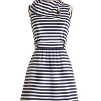 Coach Tour Dress in Navy Stripes | Mod Retro Vintage Dresses | ModCloth.com