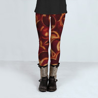 Hot Floral Pattern by Daniel Ferreira-Leites (Leggings)