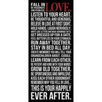 Fall in Love Wall Art - Black