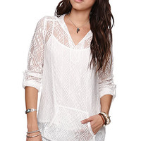 LA Hearts Woven Lace Kanga Shirt at PacSun.com