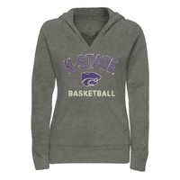 Kansas State Wildcats Ladies Heritage Custom Sport Pullover Hoodie - Gunmetal/Purple