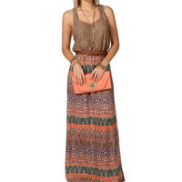 TaupePink Maxi Dress