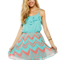 Papaya Clothing Online :: RUFFLE CHIFFON DRESS