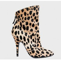 balmain HIGH-HEELED LEOPARD BOOTS