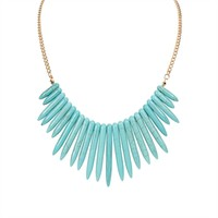 Carole Juniors Faux Turquoise Bib Necklace at Von Maur