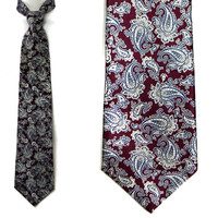 Vintage 70s Crooks & Creed London Paisley Silk Dandy Tie