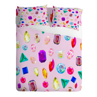 Natalie Baca Rhinestone Reverie In Pink Sheet Set