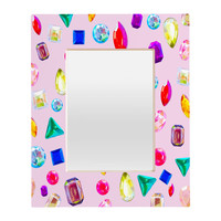 Natalie Baca Rhinestone Reverie In Pink Rectangular Mirror