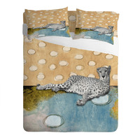 Natalie Baca Abstract Cheetah Sheet Set