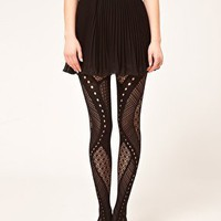 Gipsy | Gipsy Net Panel Tights at ASOS