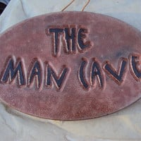 Cast Statuary Stone Man Cave Wall Hanging by MountainArtCasting