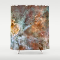 Galaxy Carinae Nebula stars hipster star NASA space geeky cool photograph Shower Curtain by iGallery