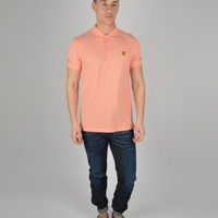 Lyle & Scott Plain Polo SPOO1V02 - Peach