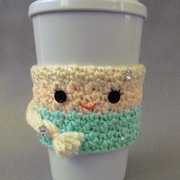 Crocheted Frozen Elsa Coffee Cup Cozy