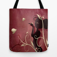 The Wings of Love Tote Bag by LouJah