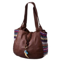 Mossimo Supply Co. Brown Satchel with Festival Inserts