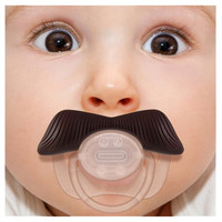 Mustache Pacifier - The Ladies Man Stachifier Mustachifier Funny Dummy Binky | Super Fun Time Gifts - Quirky, Trendy, Fun!