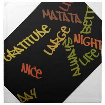 Nice Day Better Night Life Large gifts napkin
