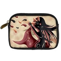 Sarah Oriantal Woman Digital Camera Leather Case