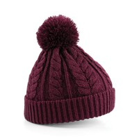 Beechfield Unisex Heavyweight Cable Knit Snowstar Winter Beanie Hat