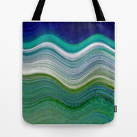 OCEANSCAPE ABSTRACT Tote Bag by Catspaws