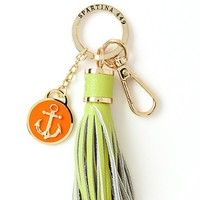 Waving Girl Yacht Club Keychain