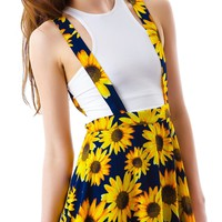 Moon Collection Sunflower Garden Suspender Skirt