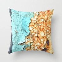 Two Faced Throw Pillow by RichCaspian