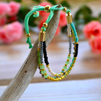 Oh So Colorful 3 Strand Beaded Bracelet