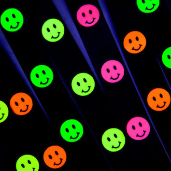 Vintage 90s neon pink acid smiley face from dayglodiva for 90s acid rave