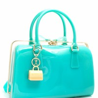 Slide N Lock Jelly Handbag