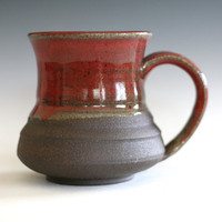 RED Coffee Mug, 16 oz, handmade ceramic cup, tea cup, coffee cup