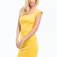 Circle Cut-Out Bodycon Dress