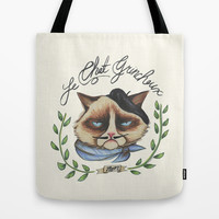 Monsieur Grumpy Tote Bag by Jacqueline Maldonado
