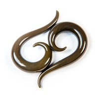 Dark Grey Glass Tail Spiral - Buddha Jewelry Organics