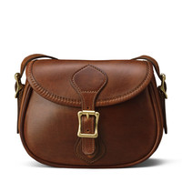 Small Shoulder Handbag Flap Bag - Distressed Brown Leather | J.W. Hulme Co.