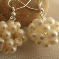 Wedding Pearl Dangle Earrings | asterling - Jewelry on ArtFire