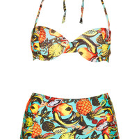 Tropical High Waist Bikini