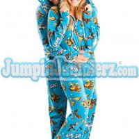 Star Wars Good Guys Hooded Footed Pajamas Footie PJs One Piece Adult Pajamas - JumpinJammerz.com